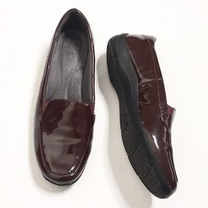 "Life Stride | Maroon ""Leather"" Loafers/Flats"
